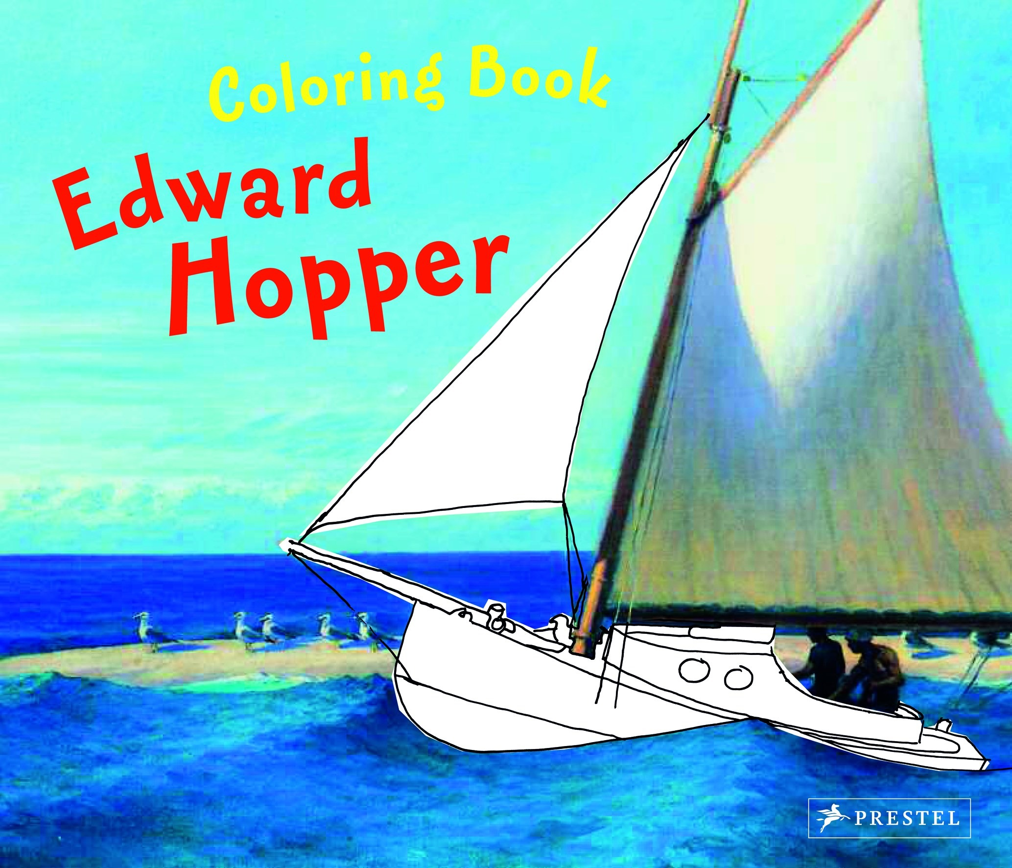 Doris Kutschbach Coloring Book Edward Hopper Prestel Publishing